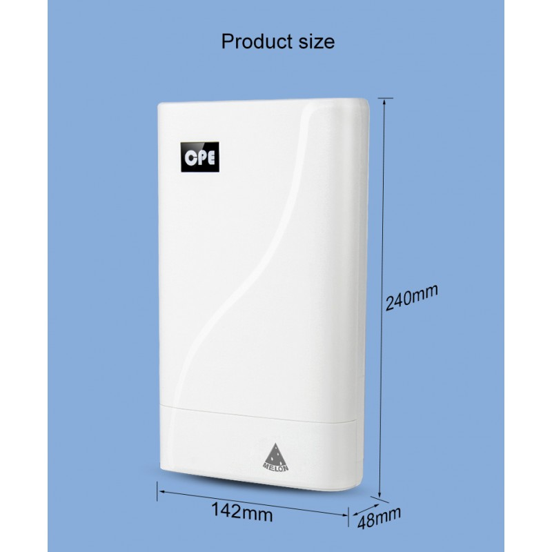 ▷ 4G LTE CPE with WIFI and SIM slot for repeat