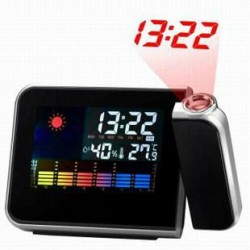 Clock Projector LED Light Station meteorological Projection