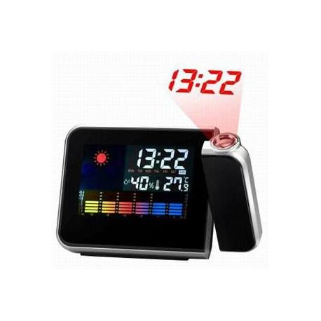 Reloj Proyector Luz LED Estacion meteorologica Proyeccion