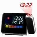Relógio Projetor LED Estação meteorologica Projecção