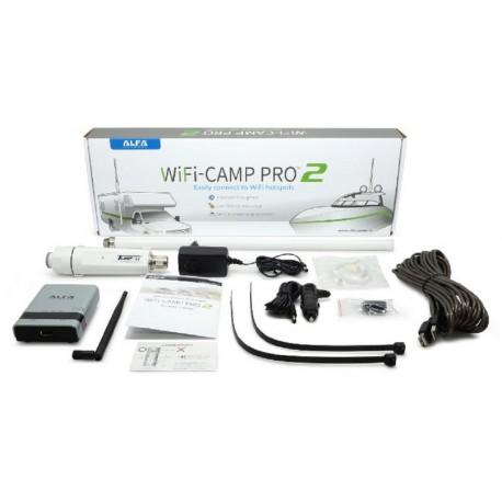 WiFi Camp-Pro 2 Kit répéteur WiFi Alfa Network pour caravane