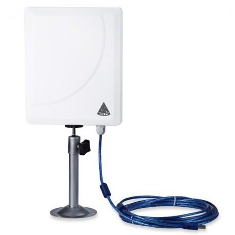 Adaptador WiFi Melon N519D Antena de panel de CA USB Cable de 36dBi AC600