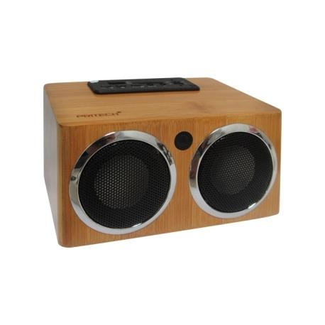MP3 reproductor digital radio FM madera Bambu USB vintage HI-FI