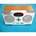 MP3 reproductor digital radio FM altvoces Estilo retro Vintage