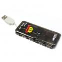 Hub USB 2.0 4 portas diodo EMISSOR de luz Portátil cabo 4 ports ladron mini