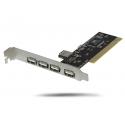Tarjeta PCI USB 5 Puertos 2.0 Siliceo interna placa hub host VIA