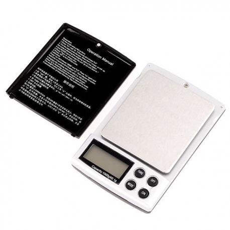 Bilancia digitale di precisione 1 kg 0.1 g gioielli tasca 1000g scala