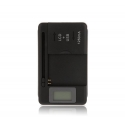 Intelligent dedicated battery charger USB output LCD 2 pines