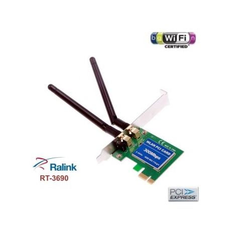 WIFI card PCI-E pci Express 300mbps n 2 antennas RT3690 MiMo