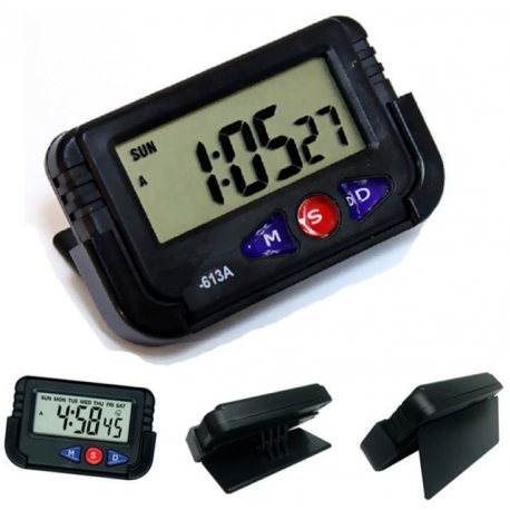 Reloj Digital para Coche moto bici calendario despertador crono