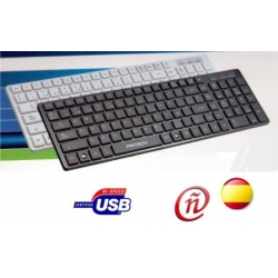 Teclado ultrafino español USB 105 teclas silencioso PRITECH a