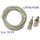 Netzwerk-kabel RJ45 RJ-45 5 m 5m CAT-5E-kabel für router