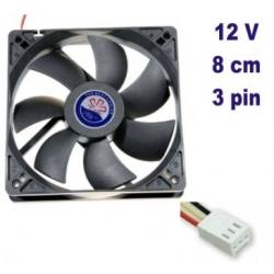 La ventola della CPU della scheda madre del computer PC 12v 80mm 8cm ventola 3pin