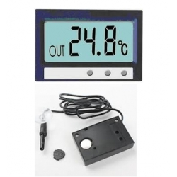 Indoor and outdoor Digital Thermometer LCD Clock Centigrade ST-2