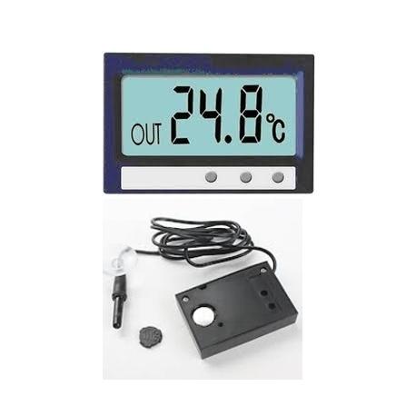 Reloj digital moto coche termometro con cable sonda acuario