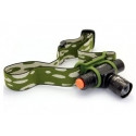 Front torch LED tape head helmet CREE Q5 zoom laser