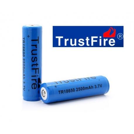 Pila 18650 bateria Litio recargable TrustFire TR18650 2500 mah