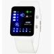 Reloj LED binario pulsera luz SKMEI 0890 3ATM sumergible blanco