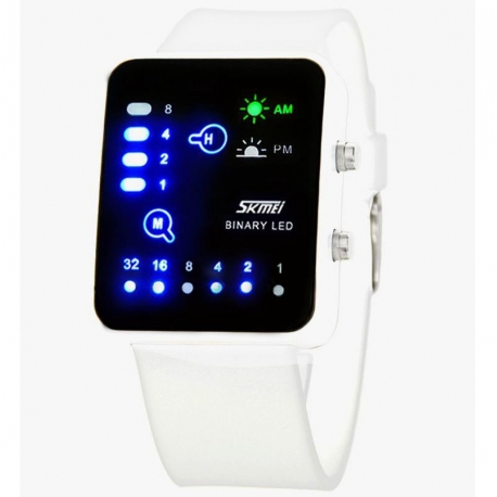 Orologio LED a binario da polso luce SKMEI 0890 3ATM resistente