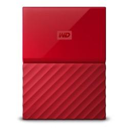 """Unidade de Disco Rígido portátil My Passport WD vermelho 2TB 2.5"""" USB 3.0"""