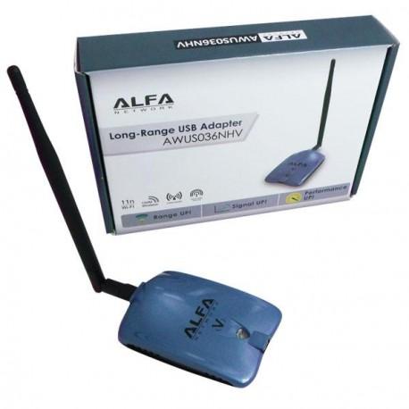 Amplificador WiFi con adaptador WiFi USB 5DBI AWUS036NHV CHIP