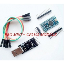 Arduino PRO MINI atmega328P with USB serial adapter cp2102 TTL