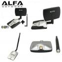 Adaptador WIFI ALFA AWUS036H USB SMA panel 7dBI 1w direccional