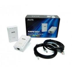 Powerline HomePlug ALFA AHPE305 AV-Ethernet-Bridge-Kit 2 Stück