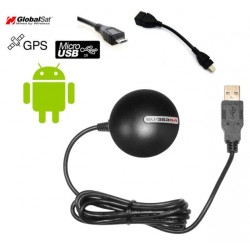 GPS para tablet android micro USB Globalsat SIRF-IV 353 cable