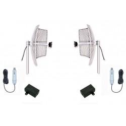 Kit WiFi antenas hasta 5km con 2 parabolicas 24dbi + puente +