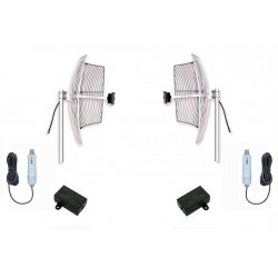 WiFi kit antennas up to 5km with 2 24dbi parabolic + bridge +