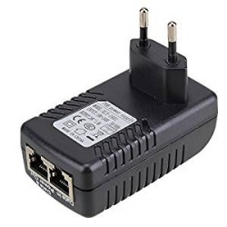 POE injector power supply Ethernet Adapter, DC 24V plug in EU