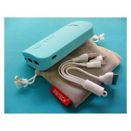 Batterie externe de Banque de Puissance de 2A 2 USB 6600 mAh