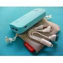 Batterie externe de Banque de Puissance de 2A 2 USB 6600 mAh lithium LED mobile