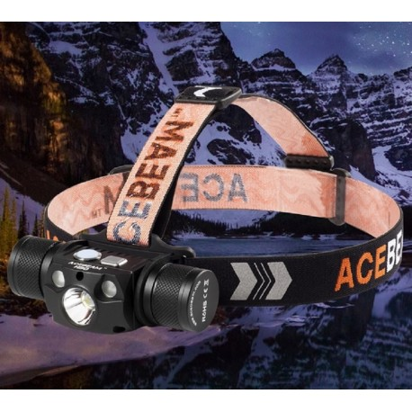 Acebeam H30 Headlamp Max 4000 Lumens Bright White Light Green Light,21700 Rechargeable Power Bank Flashlight with USB-C,Best Head Lights for Camping Running Hiking Cool White Red Light