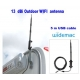 Antena WIFI USB 13dbi exterior impermeable 5m cable USB Omni