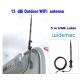 Antena WIFI USB 13dbi exterior impermeável 5m cabo USB Omni