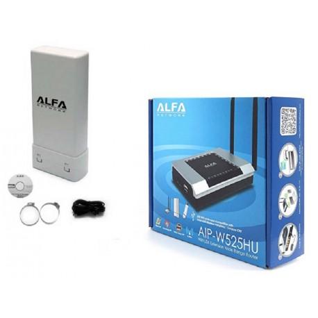 Kit WIFI Antena de WiFI UBDO-25T de 2,4 Ghz ou 5Ghz + router