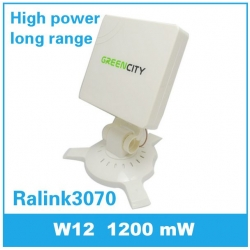 1200mW high power WIFI adapter 14dbi square directional antenna