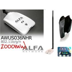AWUS036NHR v2 + 18dbi WIFI antena Omni de longo alcance