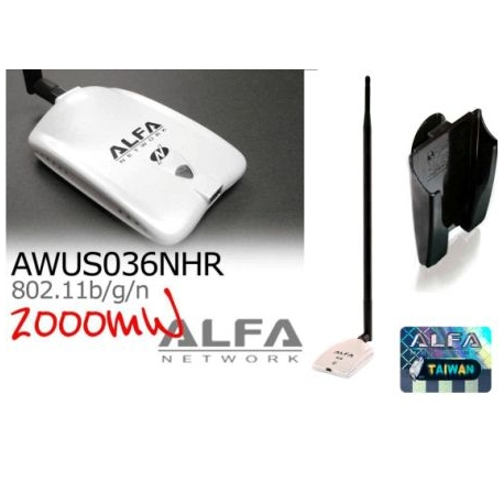 AWUS036NHR v2 + 18dbi WIFI antenna Omnidirectional long range