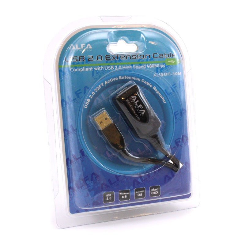 32FT USB 2.0 Active Repeating Repeater Extension Cable Male to Female 10 Meter