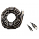 Cabo USB de 10 metros para antenas WiFi Alfa Network USB-mini ativo Autoalimentado