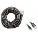 Cavo USB 10 metri per antenne WiFi Alfa Network USB-mini attivo Autoalimentato