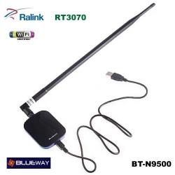 USB WIFI N 2W antenna 18dBi Blueway 150mbps BT-N9500 RT3070