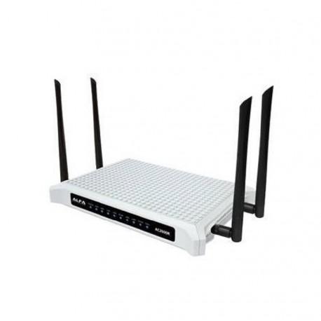 AC2600R router Gigabit Dual Band AP 4 Antenas 5dbi Alfa Network