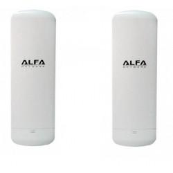 KIT per collegare tramite WIFI 2 case con 2 unità di CPE WIFI Alfa N2S