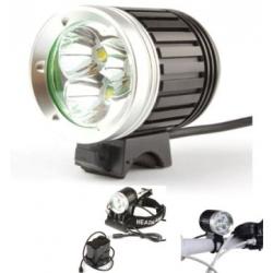 Lanterna LED Bicicleta recarregável Frontal capacete bicicleta 3 CREE XML