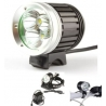 Torcia LED per Bici ricaricabile Frontale per casco bicicletta 3 CREE XML