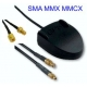 Antena GPS universal 5m cable conector SMA MMX MMCX Patch iman